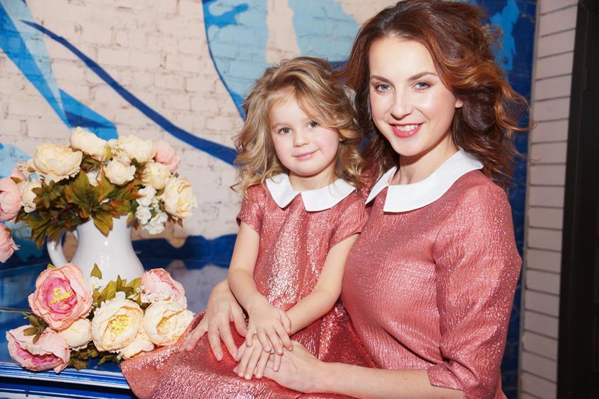 Ирина Слуцкая с дочкой Варварой